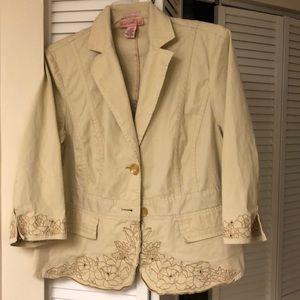 Cotton summer blazer by Bandilino